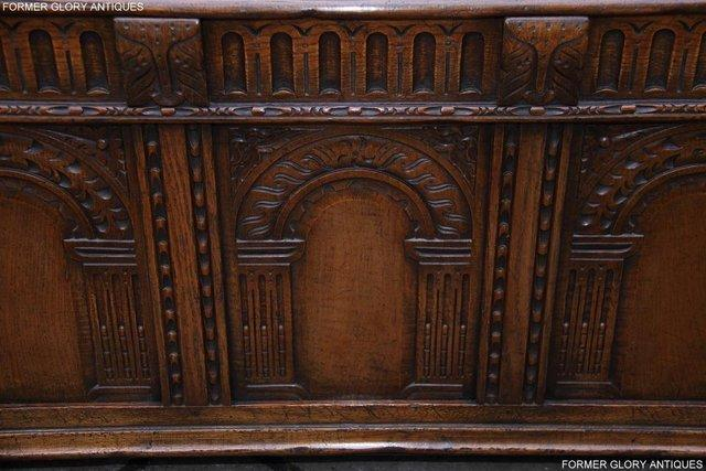 Image 48 of TITCHMARSH AND GOODWIN CARVED OAK BLANKET CHEST BOX COFFER