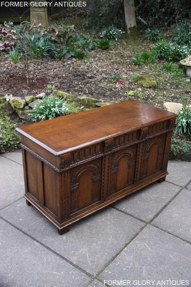 Image 50 of TITCHMARSH AND GOODWIN CARVED OAK BLANKET CHEST BOX COFFER
