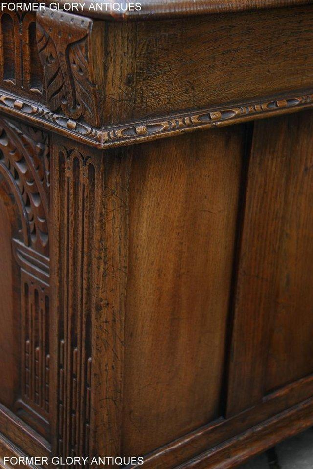Image 52 of TITCHMARSH AND GOODWIN CARVED OAK BLANKET CHEST BOX COFFER