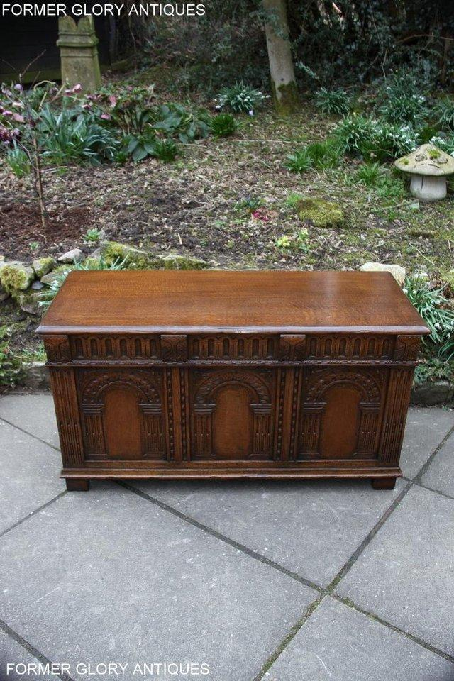 Image 58 of TITCHMARSH AND GOODWIN CARVED OAK BLANKET CHEST BOX COFFER