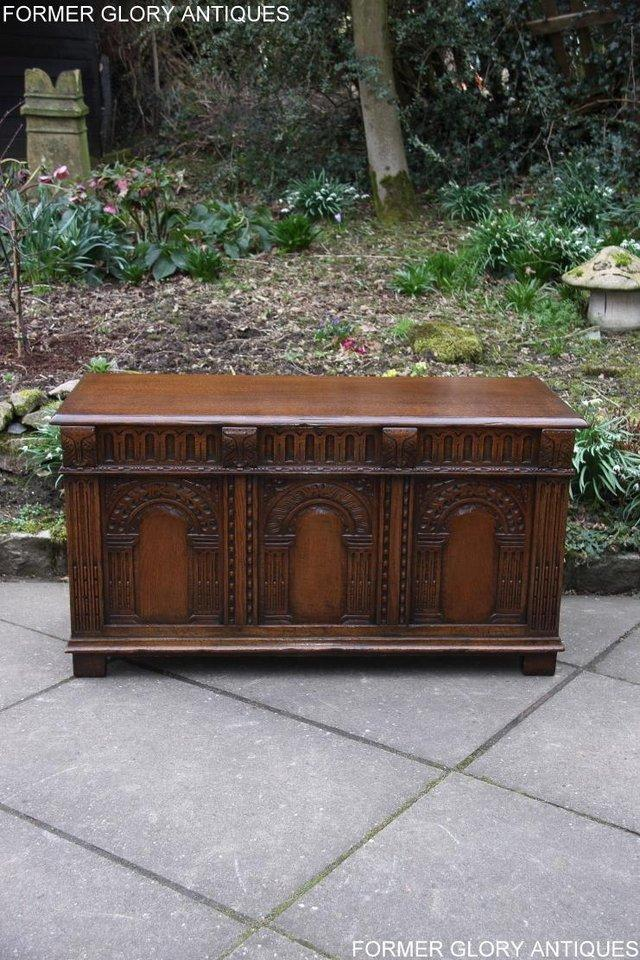 Image 63 of TITCHMARSH AND GOODWIN CARVED OAK BLANKET CHEST BOX COFFER