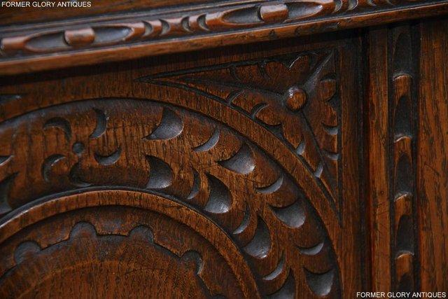 Image 64 of TITCHMARSH AND GOODWIN CARVED OAK BLANKET CHEST BOX COFFER
