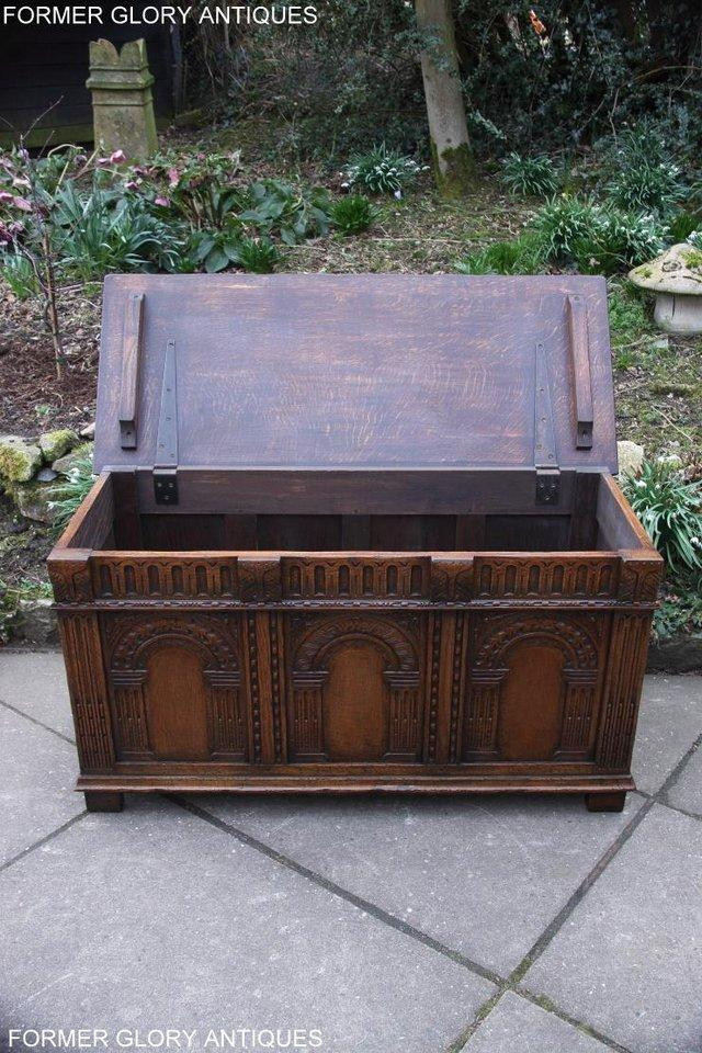 Image 68 of TITCHMARSH AND GOODWIN CARVED OAK BLANKET CHEST BOX COFFER