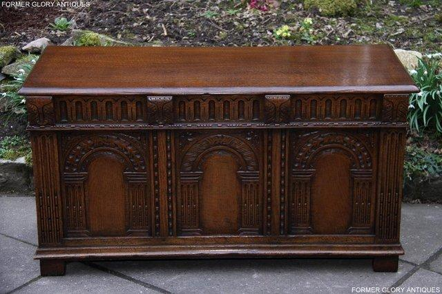 Image 72 of TITCHMARSH AND GOODWIN CARVED OAK BLANKET CHEST BOX COFFER