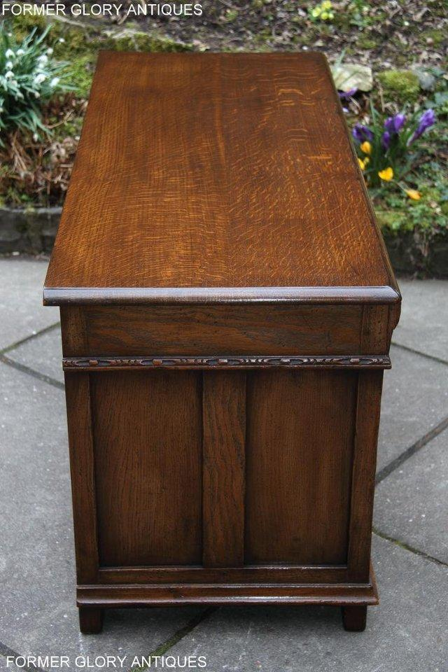 Image 74 of TITCHMARSH AND GOODWIN CARVED OAK BLANKET CHEST BOX COFFER