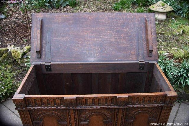Image 77 of TITCHMARSH AND GOODWIN CARVED OAK BLANKET CHEST BOX COFFER
