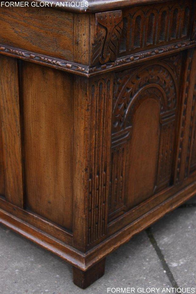 Image 81 of TITCHMARSH AND GOODWIN CARVED OAK BLANKET CHEST BOX COFFER