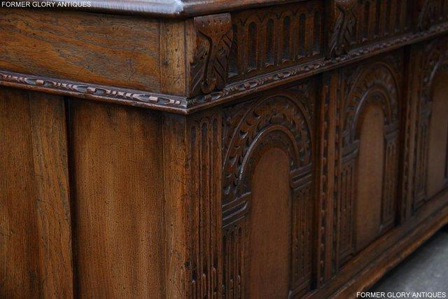 Image 84 of TITCHMARSH AND GOODWIN CARVED OAK BLANKET CHEST BOX COFFER