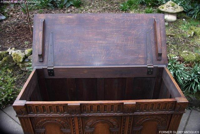 Image 86 of TITCHMARSH AND GOODWIN CARVED OAK BLANKET CHEST BOX COFFER