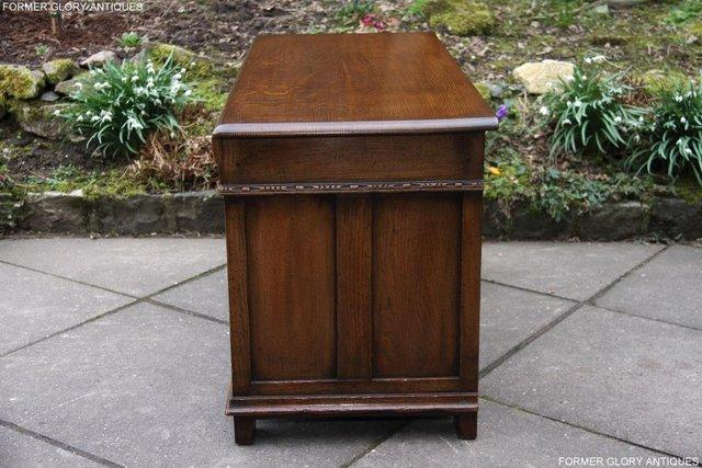 Image 87 of TITCHMARSH AND GOODWIN CARVED OAK BLANKET CHEST BOX COFFER