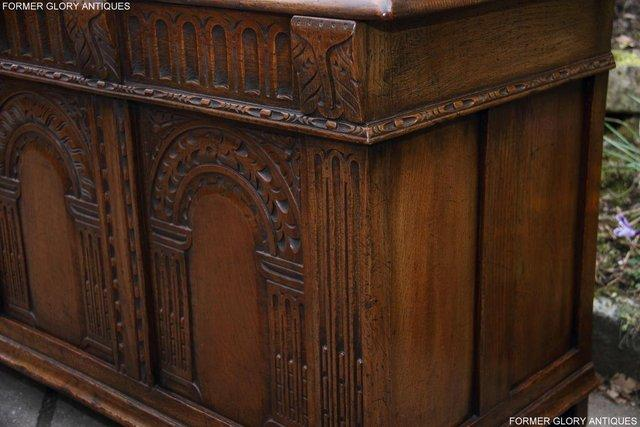 Image 92 of TITCHMARSH AND GOODWIN CARVED OAK BLANKET CHEST BOX COFFER