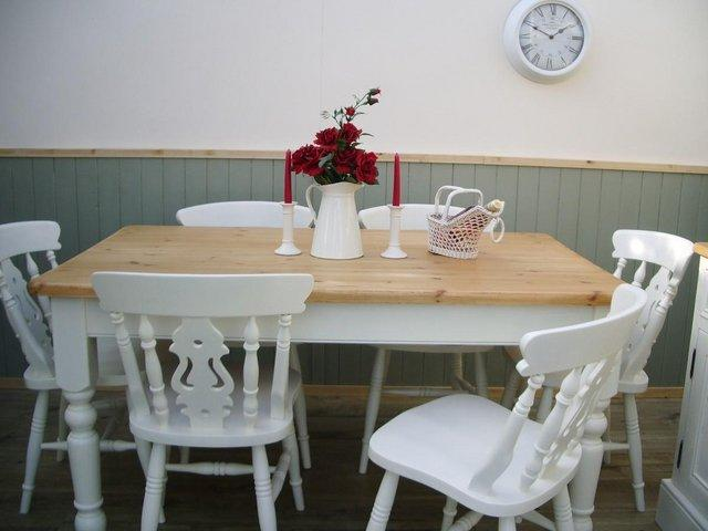 Stunning Pine Farmhouse 5ft Table And Chair Set Description This Is A Lovingly Restored The Top Has Been To