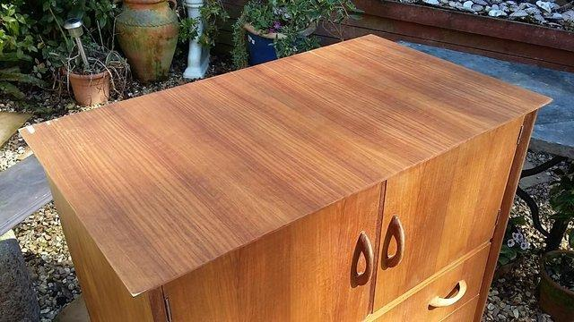 Image 2 of Mid Century Teak Chest of Drawers / Tall Boy by Wrighton