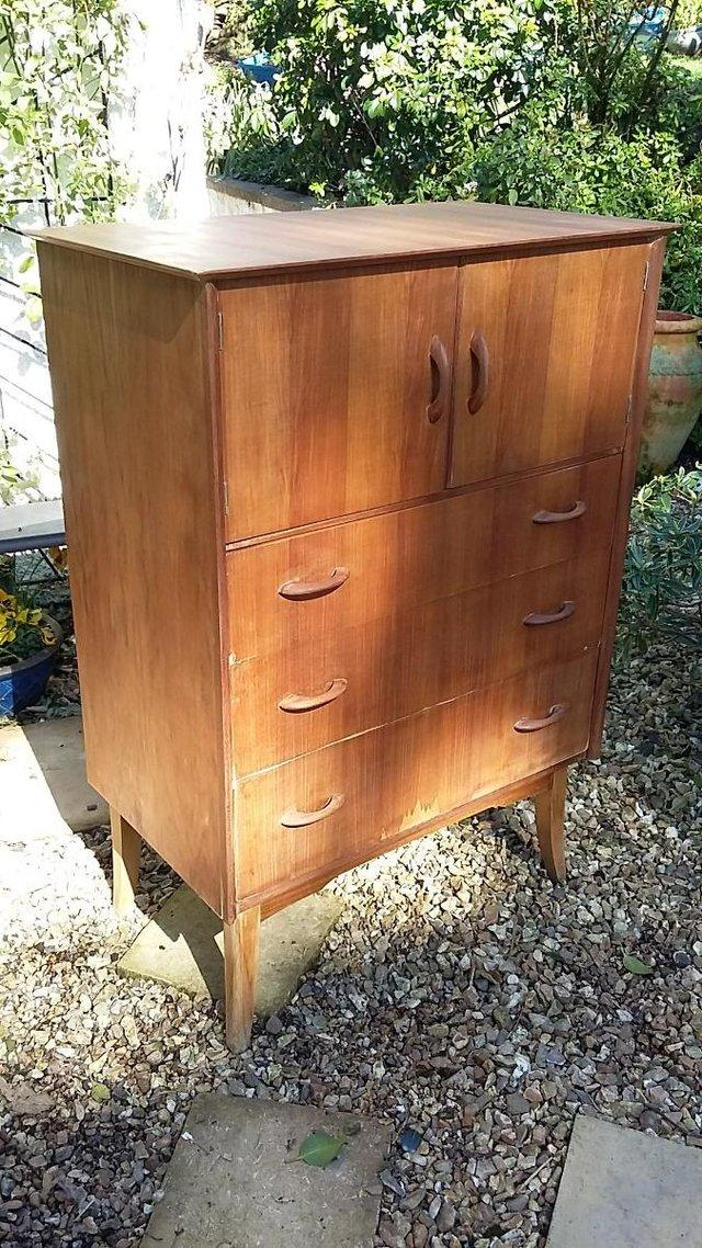 Image 4 of Mid Century Teak Chest of Drawers / Tall Boy by Wrighton