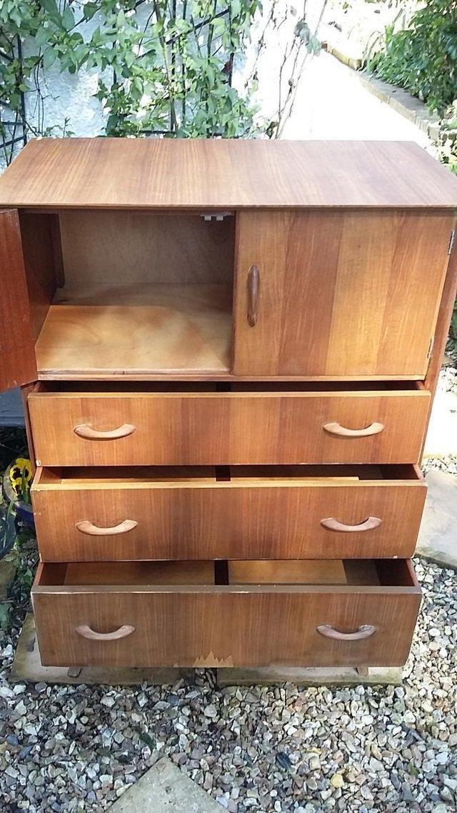 Image 5 of Mid Century Teak Chest of Drawers / Tall Boy by Wrighton