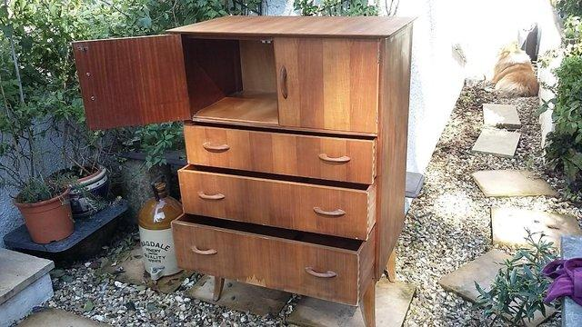 Image 7 of Mid Century Teak Chest of Drawers / Tall Boy by Wrighton