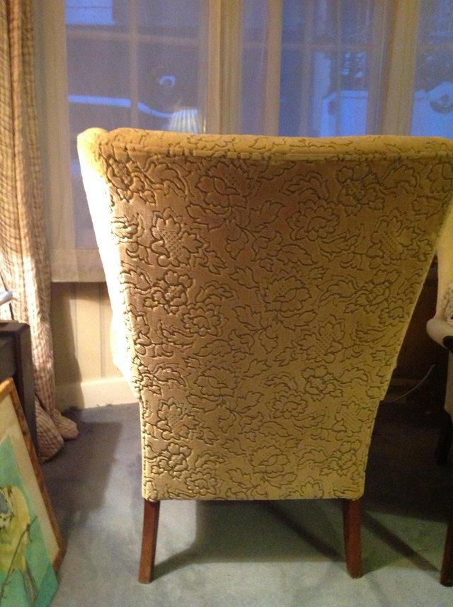 Image 2 of Parker Knoll wing back chair