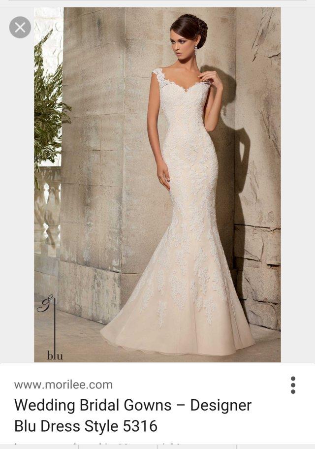 Beautiful unworn, unaltered Morilee fishtail wedding gown For Sale ...
