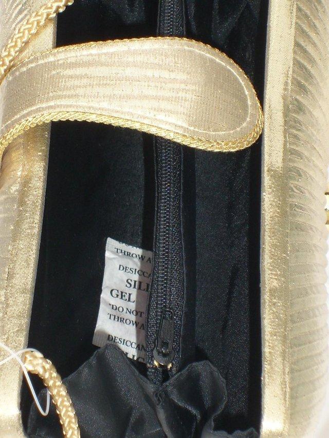 Image 3 of DENTS 1777 Vintage Look Gold Lamé Handbag/Clutch NEW!