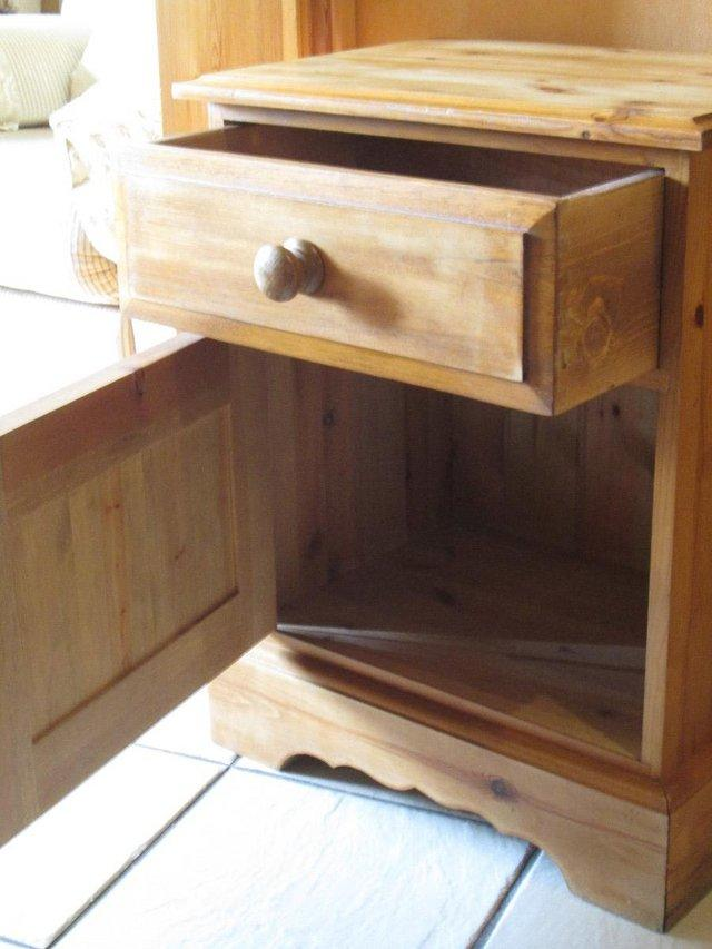 Image 2 of Waxed Pine Bedside cabinet