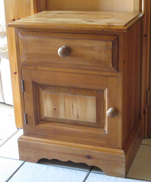 Preview of the first image of Waxed Pine Bedside cabinet.