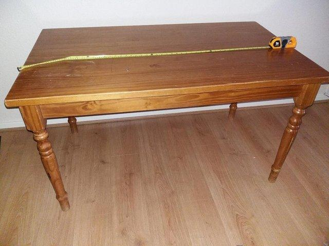 Beautiful Solid Pine Dining Table Lovely Looking With Turned Lgs Length 135 CM 53 Inches Width 80 315 For Sale At 70