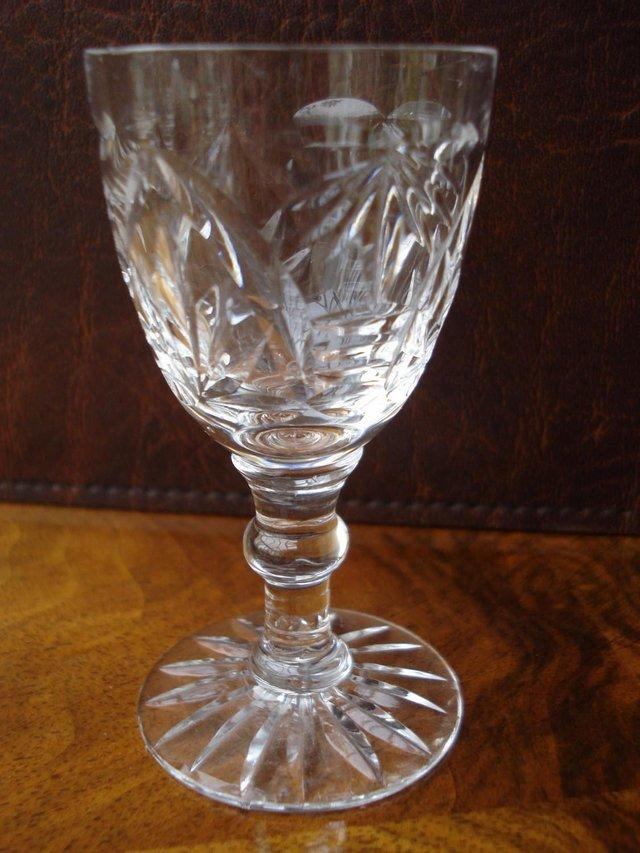 Image 3 of 5 x ANTIQUE LEAD CUT GLASS SET OF STUART CRYSTAL STOURBRIDGE