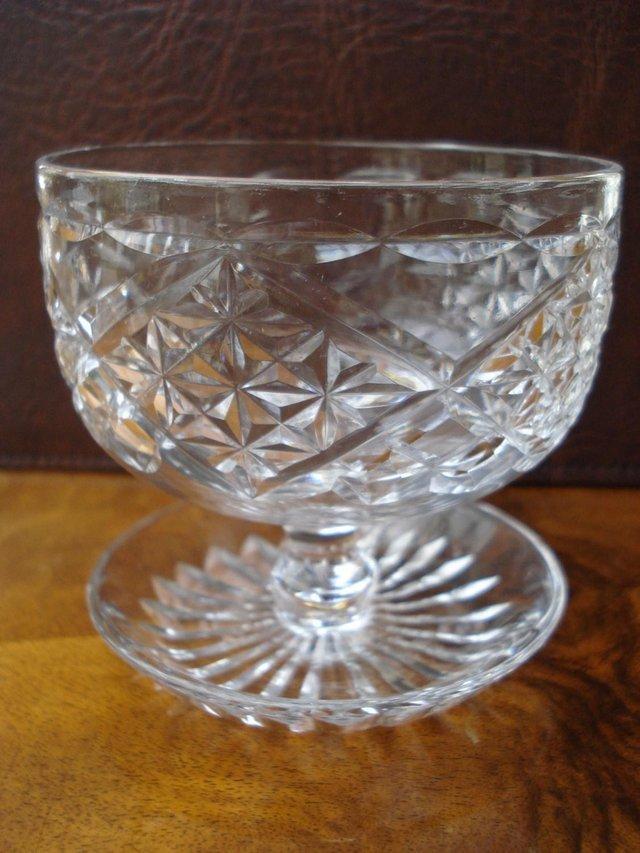 Image 2 of 3 x ANTIQUE LEAD CUT GLASS SET OF STUART CRYSTAL STOURBRIDGE