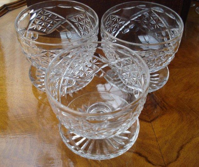 Image 3 of 3 x ANTIQUE LEAD CUT GLASS SET OF STUART CRYSTAL STOURBRIDGE