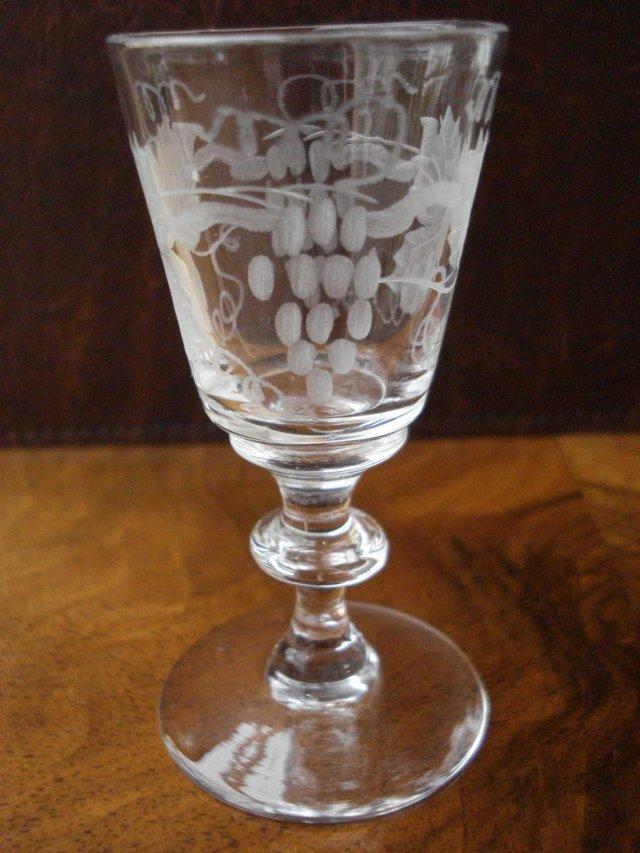 Image 2 of 5 x GLASSES ANTIQUE CUT GLASS SET STUART CRYSTAL STOURBRIDGE