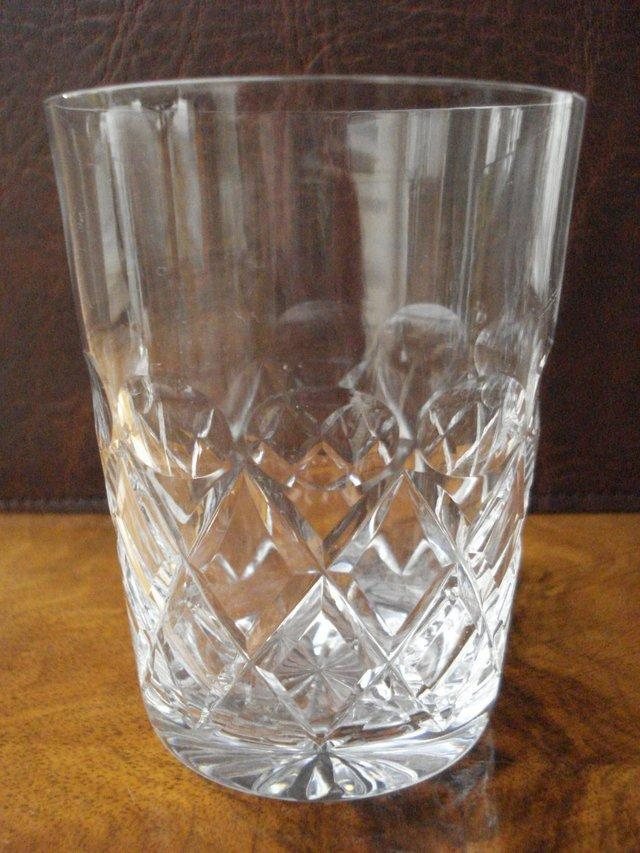 Preview of the first image of WHISKY TUMBLER ANTIQUE CUT GLASS STUART CRYSTAL STOURBRIDGE.