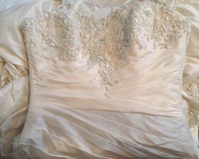 Image 2 of MAGGIE SOTTERO HAMPTON WEDDING DRESS Diamante Lace Beads