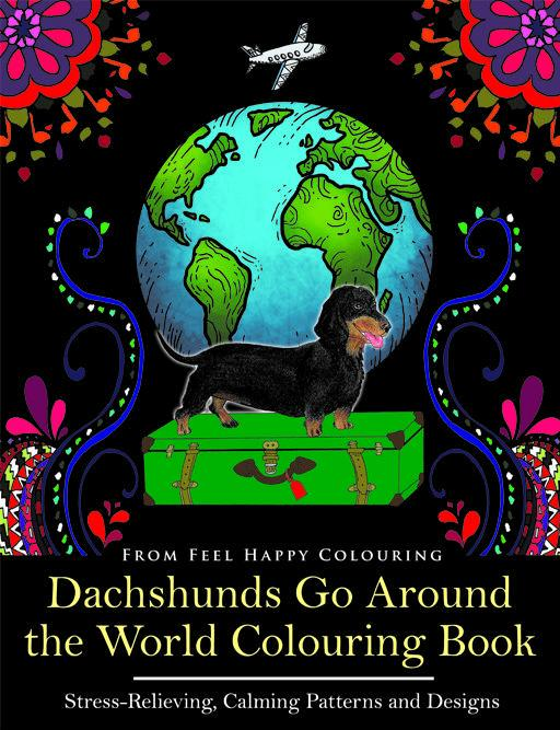 Preview of the first image of Dachshunds Go Around the World Colouring Book (Bestseller).