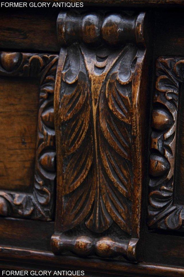 Image 11 of TITCHMARSH & GOODWIN STYLE CARVED OAK DRESSER BASE SIDEBOARD