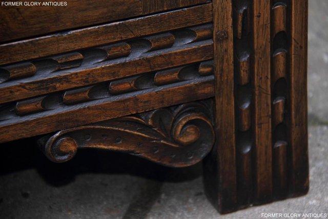 Image 14 of TITCHMARSH & GOODWIN STYLE CARVED OAK DRESSER BASE SIDEBOARD