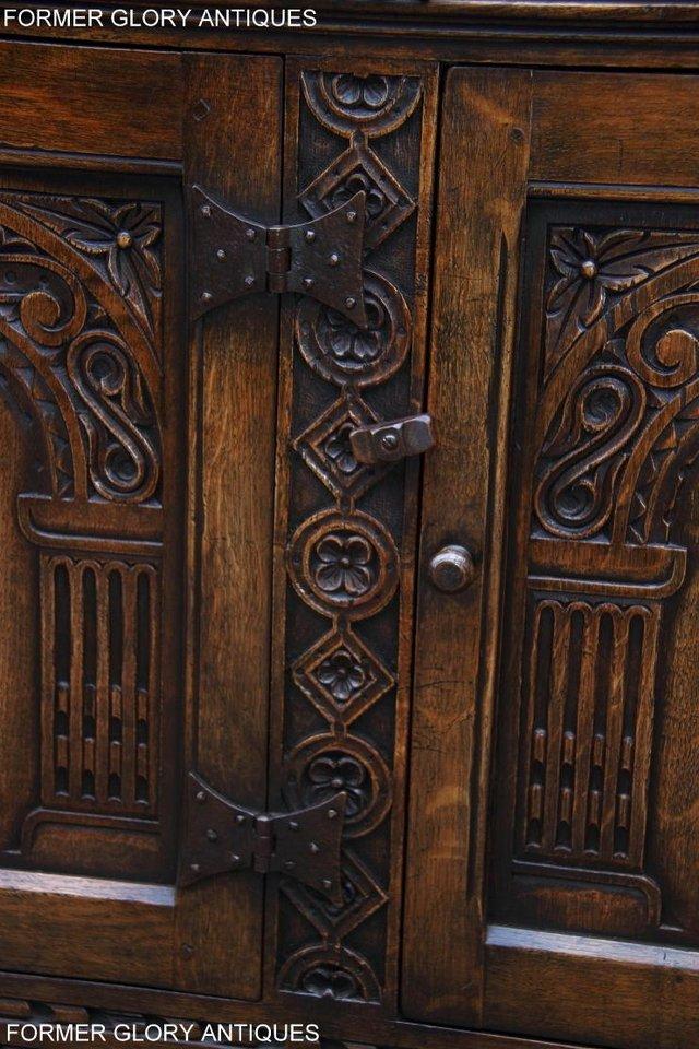 Image 43 of TITCHMARSH & GOODWIN STYLE CARVED OAK DRESSER BASE SIDEBOARD