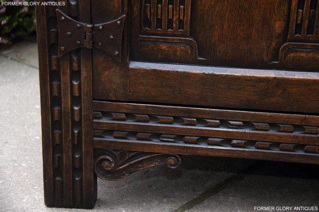Image 64 of TITCHMARSH & GOODWIN STYLE CARVED OAK DRESSER BASE SIDEBOARD