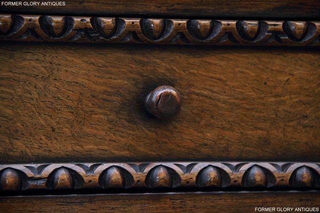 Image 66 of TITCHMARSH & GOODWIN STYLE CARVED OAK DRESSER BASE SIDEBOARD