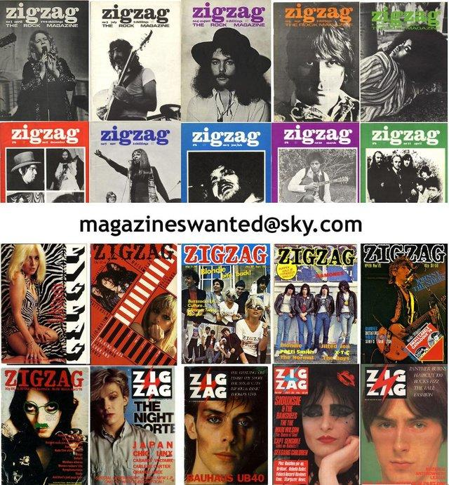 WANTED ZigZag Magazine & other 60s & 70s music mags Wanted