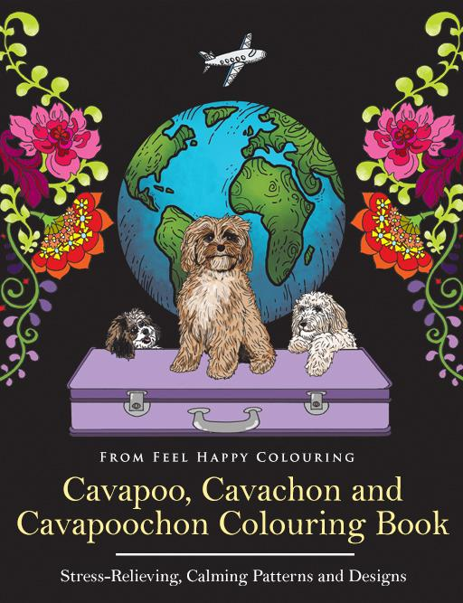 Preview of the first image of Cavapoo, Cavachon and Cavapoochon Colouring Book.