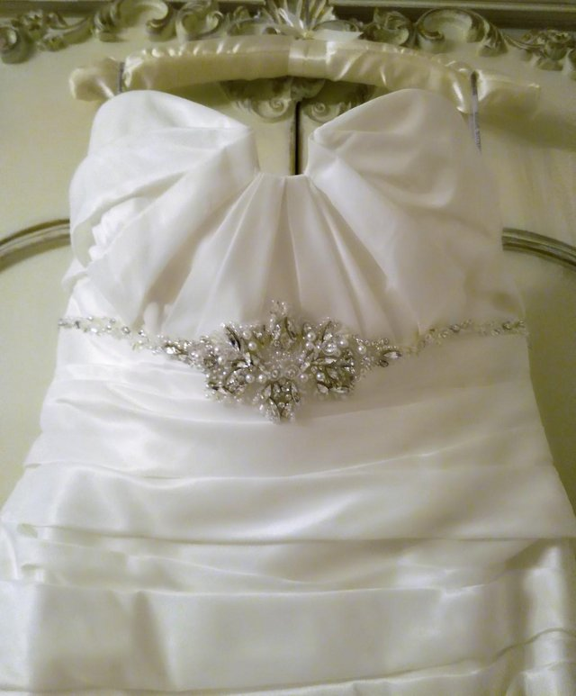 Image 2 of MAGGIE SOTTERO IMPERIAL WEDDING DRESS Strap Diamante Pearl