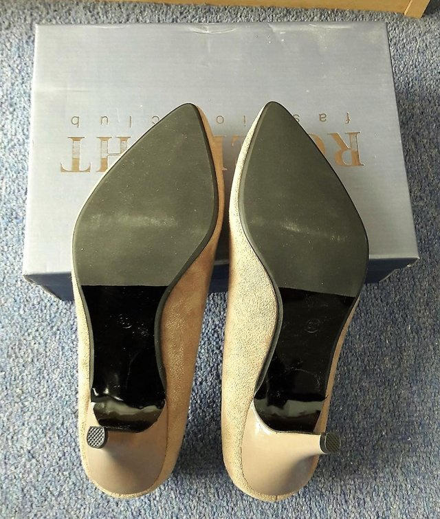Image 2 of Roselight women's suede khaki shoes size 5