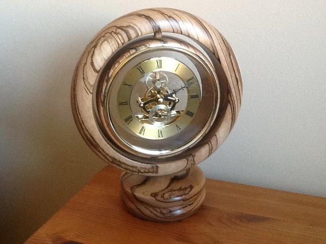 Image 3 of Zebra wood clock