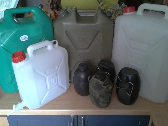 Preview of the first image of MOD Army issue 1 & 20 Litre water containers from £5 each.