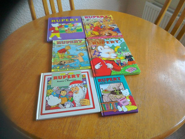 Preview of the first image of Collectable vintage Rupert Bear Books.