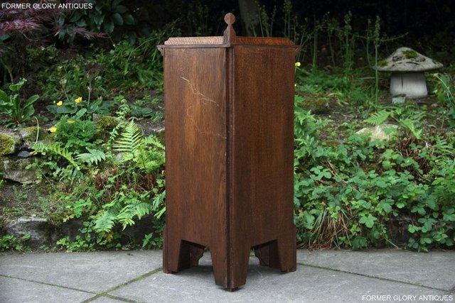 Image 6 of A NIGEL RUPERT GRIFFITHS CARVED OAK CORNER CABINET CUPBOARD