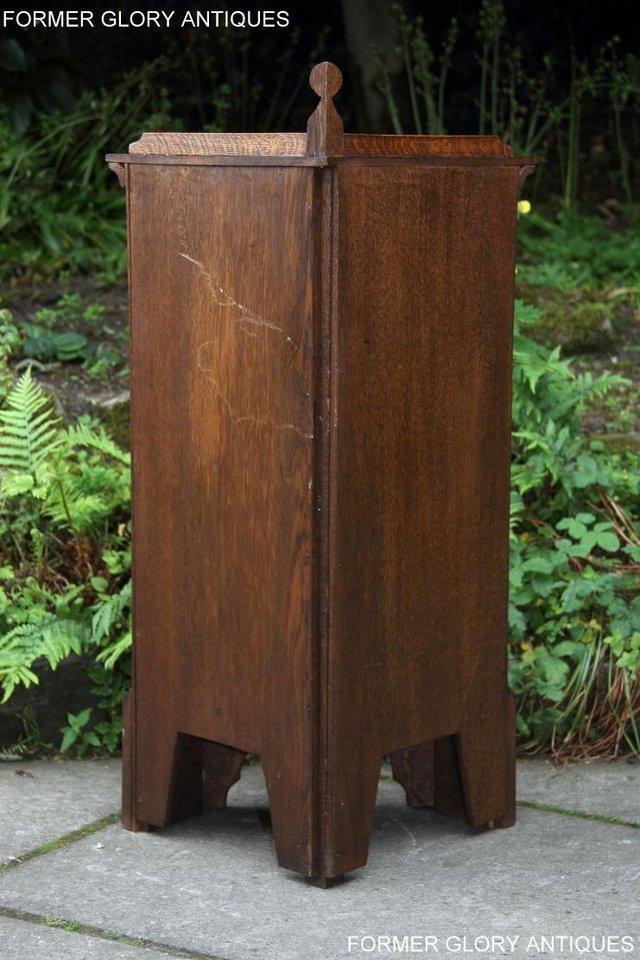 Image 16 of A NIGEL RUPERT GRIFFITHS CARVED OAK CORNER CABINET CUPBOARD