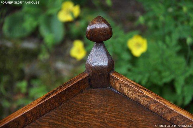 Image 17 of A NIGEL RUPERT GRIFFITHS CARVED OAK CORNER CABINET CUPBOARD