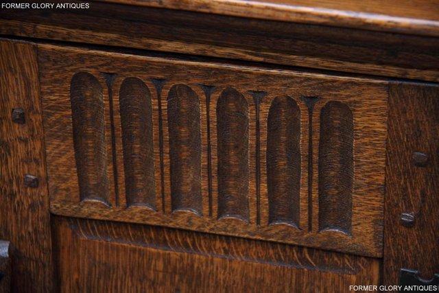 Image 62 of A NIGEL RUPERT GRIFFITHS CARVED OAK CORNER CABINET CUPBOARD