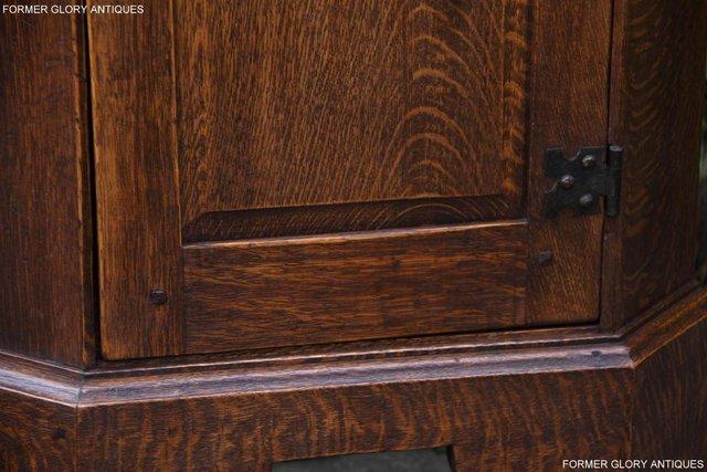 Image 95 of A NIGEL RUPERT GRIFFITHS CARVED OAK CORNER CABINET CUPBOARD